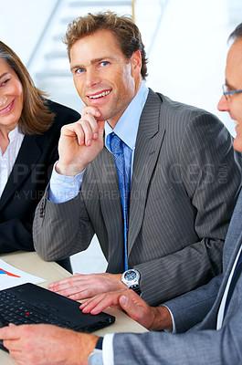 Buy stock photo Mature businessman smiling