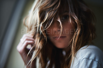 Buy stock photo An attractive young woman indoors