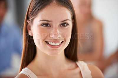 Buy stock photo Portrait of a beautiful smiling business woman