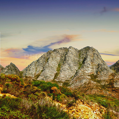 Buy stock photo A mountainside located in the Western Cape, South Africa
