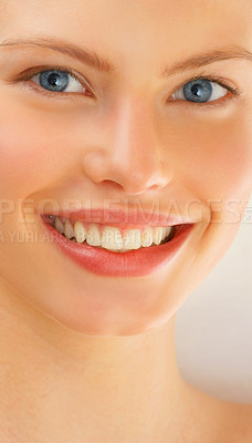 Buy stock photo Portrait of an attractive young woman with beautiful skin