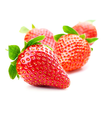 Buy stock photo Isolated fruits - Strawberries on white background. This picture is part of the series