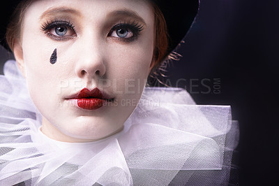 Buy stock photo Studio shot of a female mime