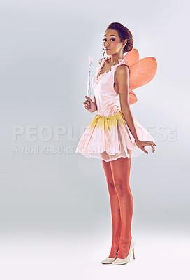 Buy stock photo A full length shot of a cute fairy
