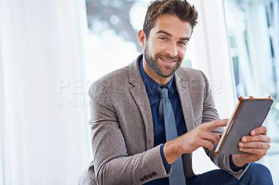 Buy stock photo Shot of a stylish businessman