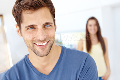 Buy stock photo A portrait of a smiling good looking guy