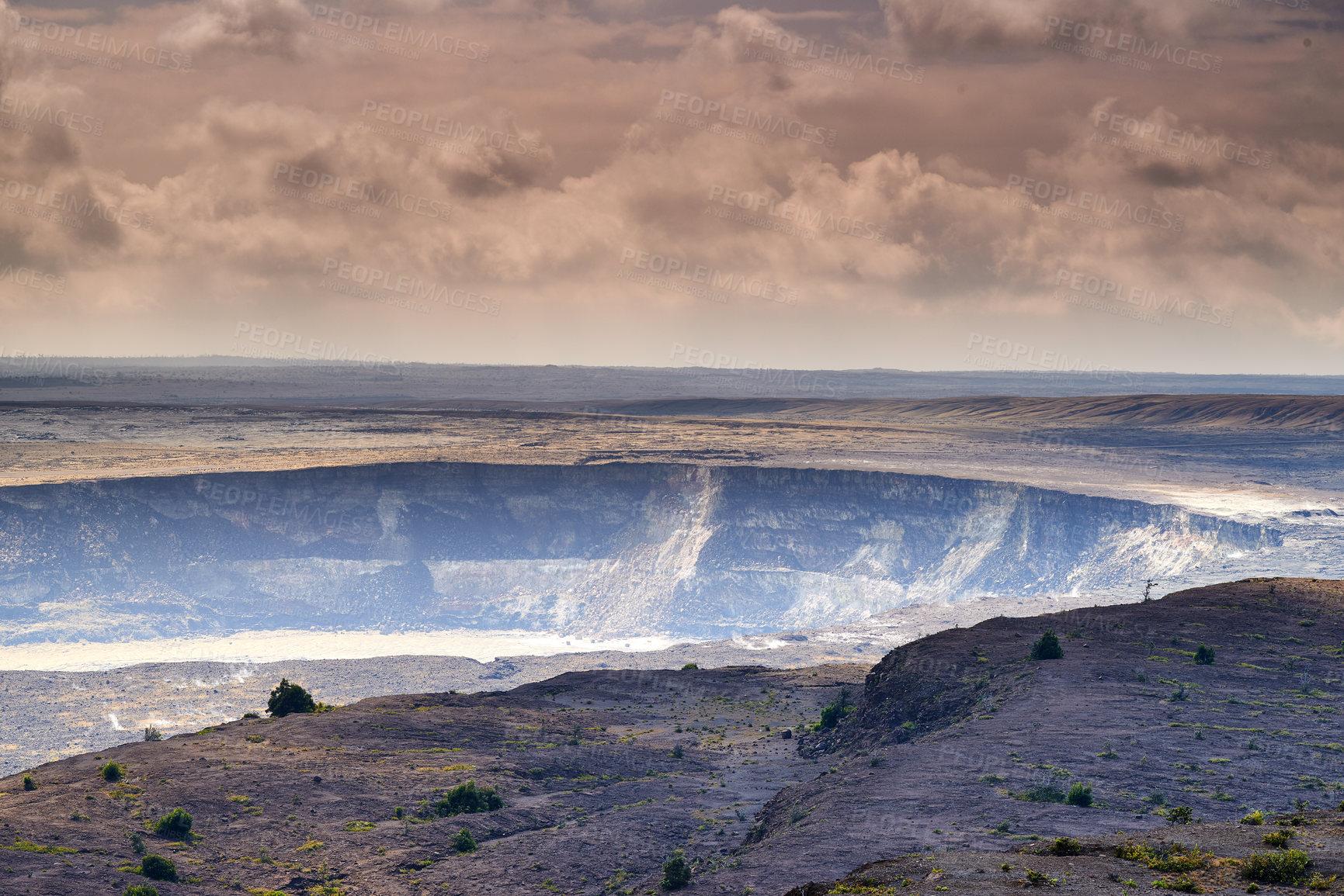 Buy stock photo Mouna Kea - the most active volcano in Hawaii, Big Island, Hawaii, USA