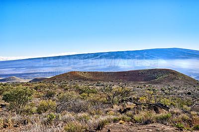Buy stock photo The world's largest volcano Mauna Loa in Hawaii, Big Island, Hawaii, USA