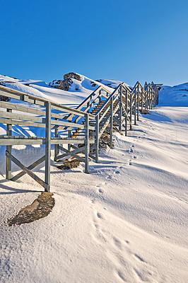 Buy stock photo Shot of an arctic landscape