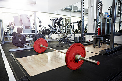 Buy stock photo Shot of the interior of a health club