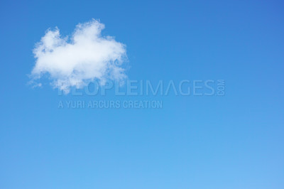 Buy stock photo Blue sky and white clouds - wonders of nature