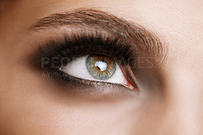 Buy stock photo Closeup shot of a beautiful woman's green eye