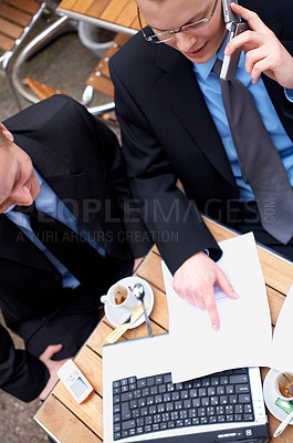 Buy stock photo Young Successful businessteam at a meeting