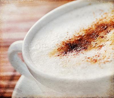 Buy stock photo A delicious cappuccino