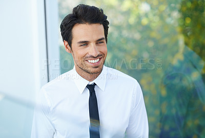 Buy stock photo A smiling young businessman