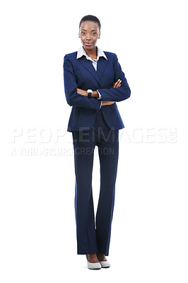 Buy stock photo A young businesswoman looking at the camera