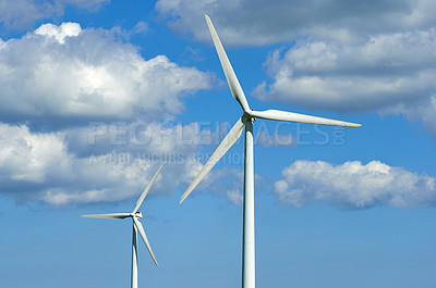 Buy stock photo Wind turbines located in Denmark