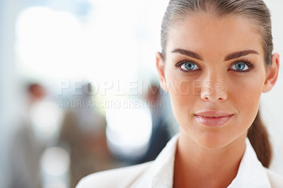 Buy stock photo Portrait of a cute successful business woman
