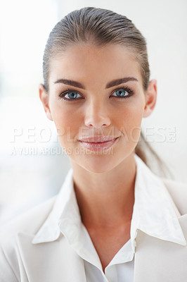 Buy stock photo Closeup portrait of a charming successful business woman
