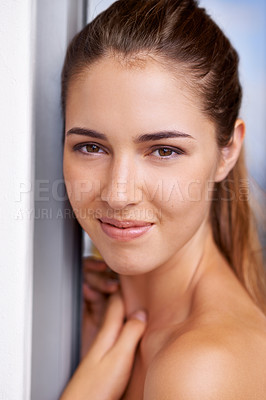 Buy stock photo Shot of an attractive young woman