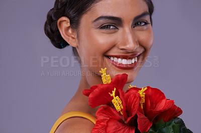 Buy stock photo Closeup shot of a beautiful exotic woman