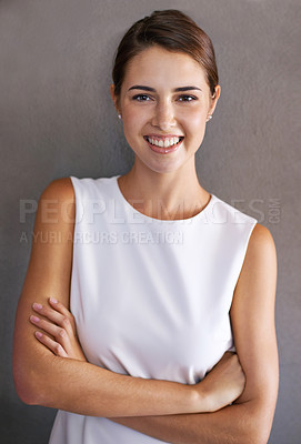 Buy stock photo Portrait of a beautiful young businesswoman