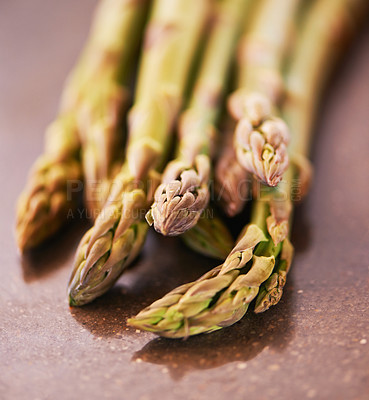 Buy stock photo A cropped shot of a bunch of asparagus