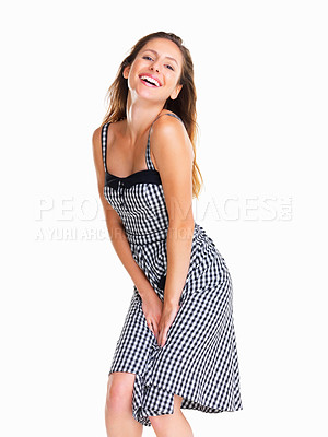 Buy stock photo Woman posing provocatively