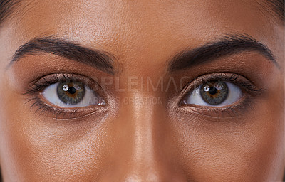 Buy stock photo Closeup portrait of a beautiful young woman in the studio