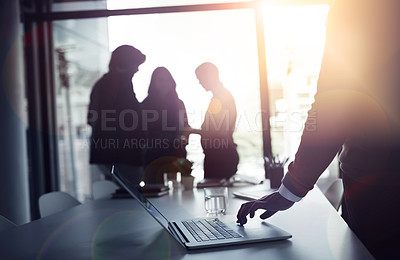Buy stock photo Cropped shot of businesspeople in an office
