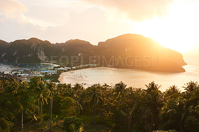 Buy stock photo Shot of a breathtaking island view