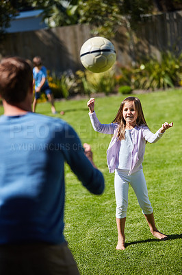 Buy stock photo Shot of a family spending time together at home
