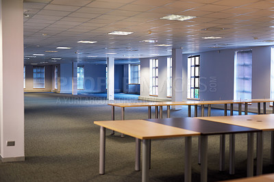 Buy stock photo Shot of an empty modern office