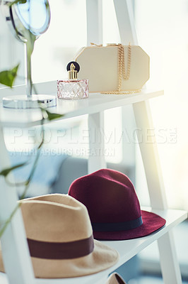 Buy stock photo Shot of different accessories on display in a store