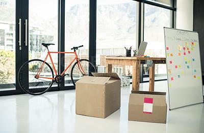 Buy stock photo Still life shot of an empty office