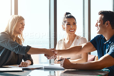 Buy stock photo Cropped shot of a couple doing their financial planning at home