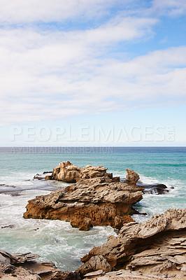 Buy stock photo Still life shot of a coastal landscape