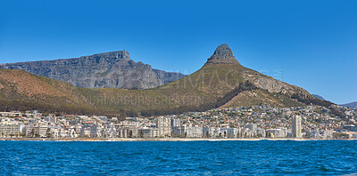 Buy stock photo Sea Point, Lions Head and the Twelve Apostles,  Table Mountain National Park, Cape Town, South Africa