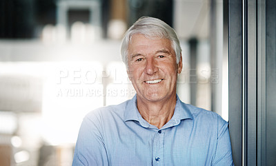 Buy stock photo Portrait of a senior businessman in the office