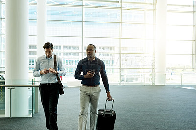 Buy stock photo Cropped shot of young businessmen in the workplace