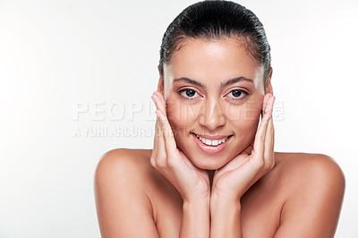 Buy stock photo Studio shot of a beautiful young woman