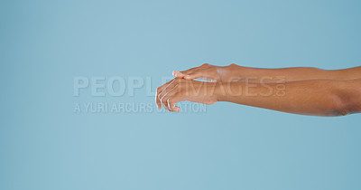 Buy stock photo Cropped shot of an unrecognizable woman feeling her smooth skin