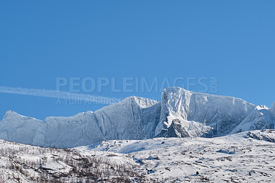 Buy stock photo Shot of a beautiful winter's scene