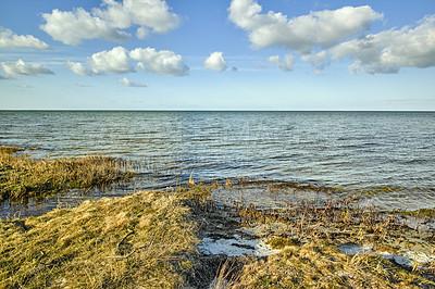 Buy stock photo The east coast of Jutland facing Kattegat