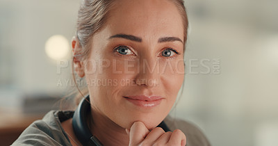 Buy stock photo Portrait of a young designer working in an office