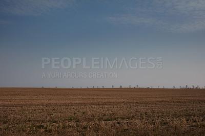 Buy stock photo Farmland ready for harvesting