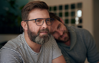 Buy stock photo Shot of a mature couple spending quality time together at home