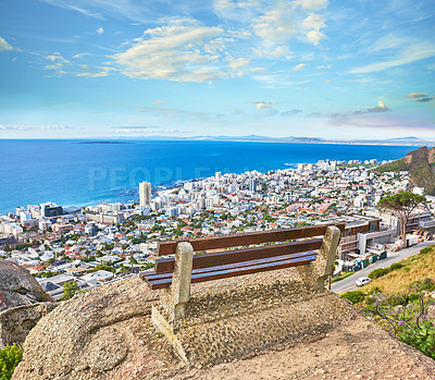 Buy stock photo Aerial view of Cape Town, South Africa