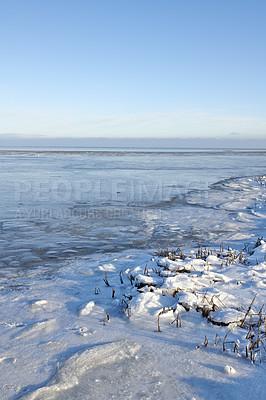 Buy stock photo Photos of Danish winter by the coast of Kattegat.