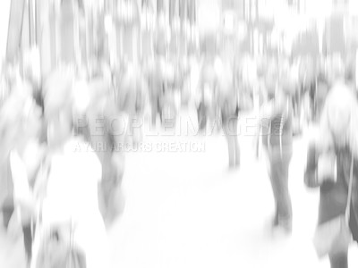 Buy stock photo A motion blurred High key photo of People traveling